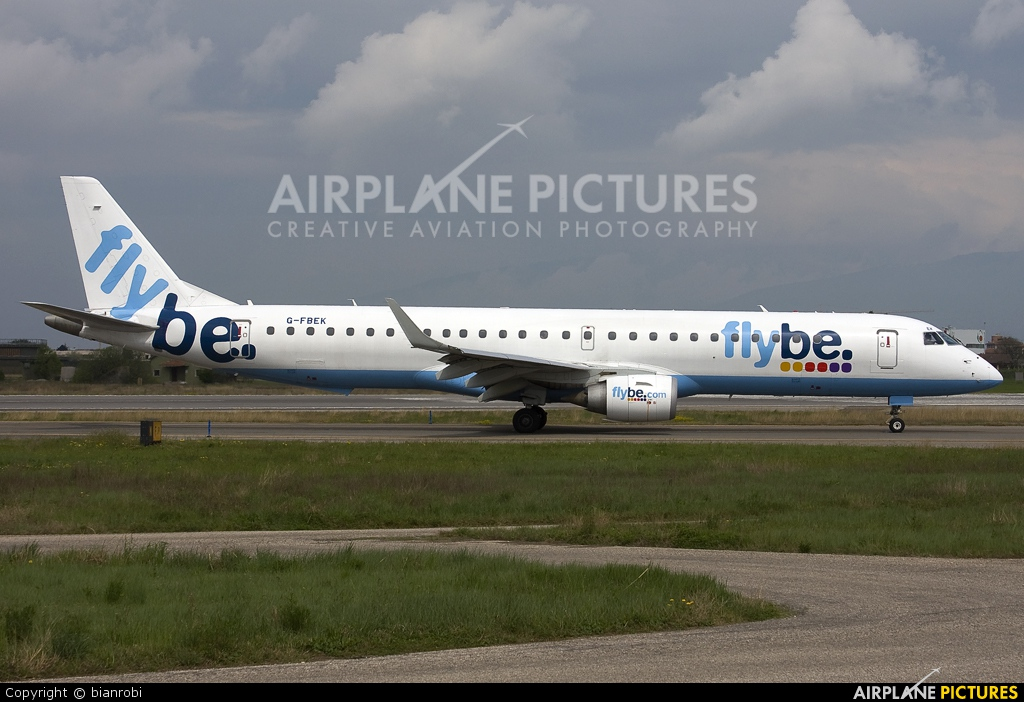 Flybe G-FBEK aircraft at Verona - Villafranca