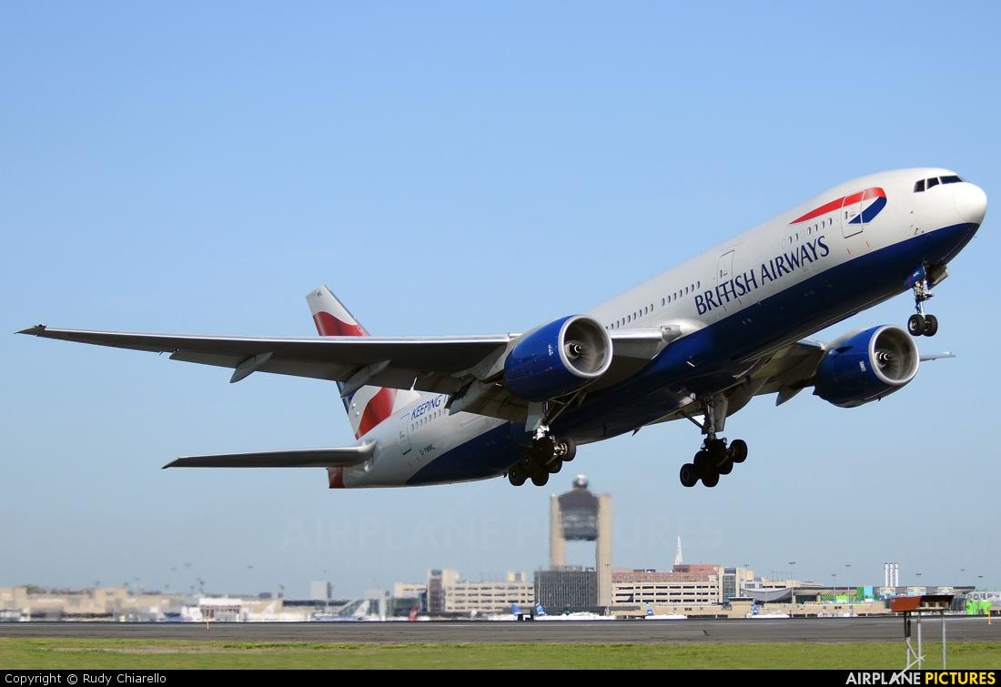 British Airways G-YMML aircraft at Boston - General Edward Lawrence Logan Intl