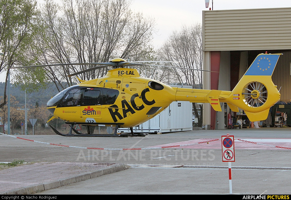 TAF Helicopters EC-LAL aircraft at Barcelona - Heliport