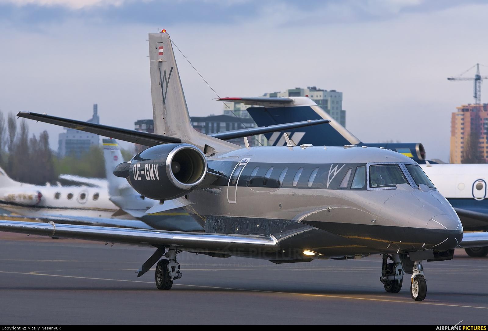 Private OE-GWV aircraft at Kiev - Zhulyany