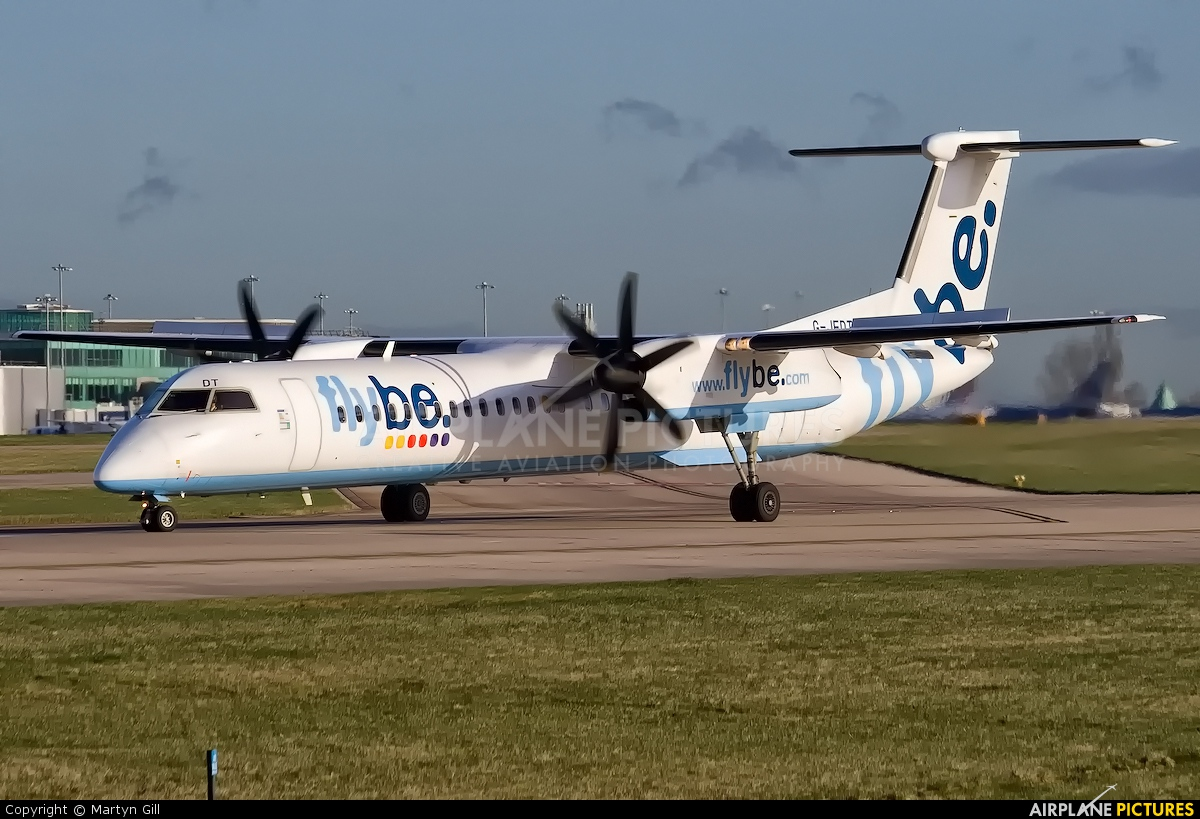 Flybe G-JEDT aircraft at Manchester