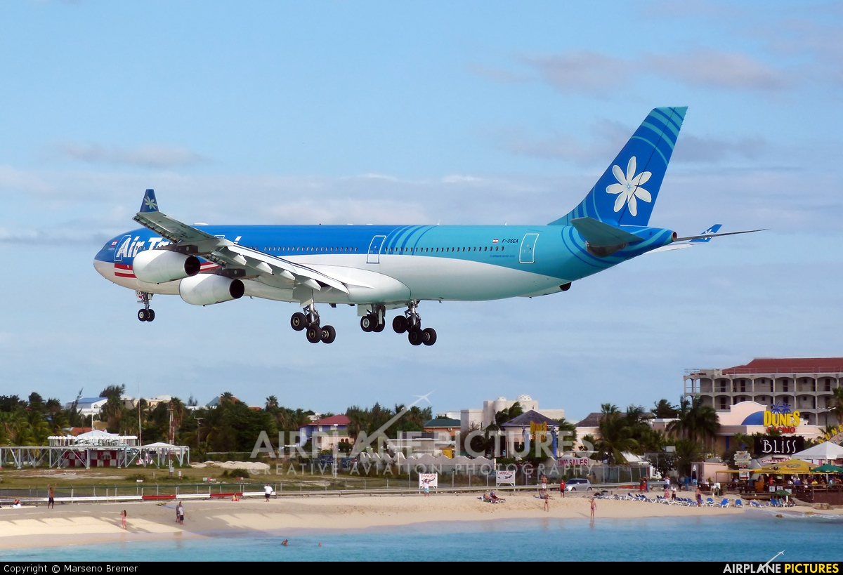 Air Tahiti Nui F-OSEA aircraft at Sint Maarten - Princess Juliana Intl
