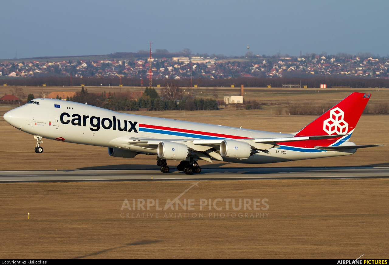 Cargolux LX-VCD aircraft at Budapest Ferenc Liszt International Airport