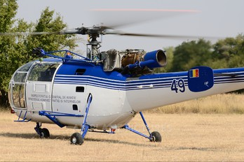 49 - Romania - Police Sud Aviation SA-316 Alouette III