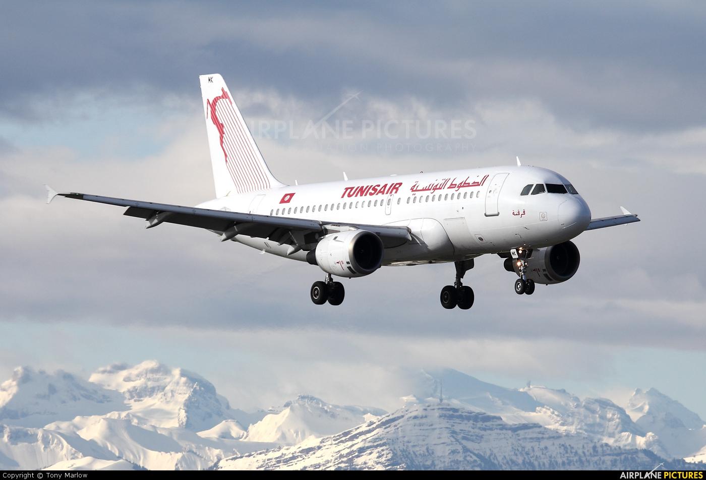 Tunisair TS-IMK aircraft at Zurich