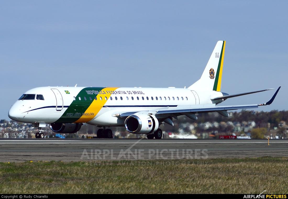 Brazil - Air Force 2592 aircraft at Boston - General Edward Lawrence Logan Intl