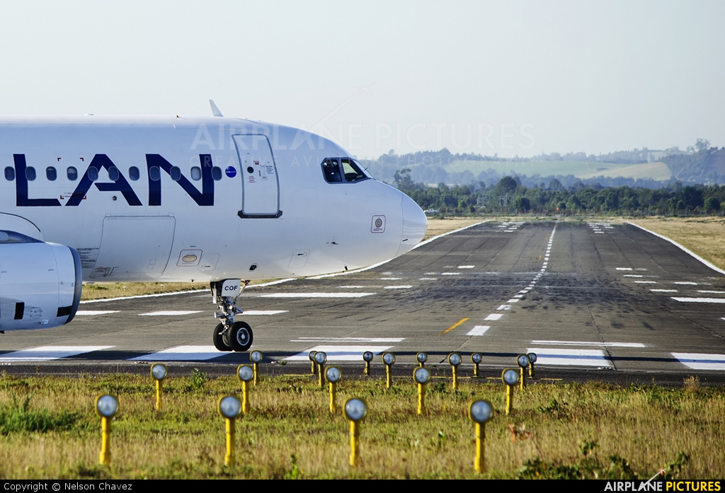 LAN Airlines CC-COF aircraft at Puerto Montt
