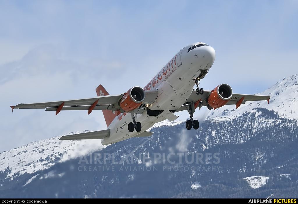 easyJet G-EZAN aircraft at Innsbruck