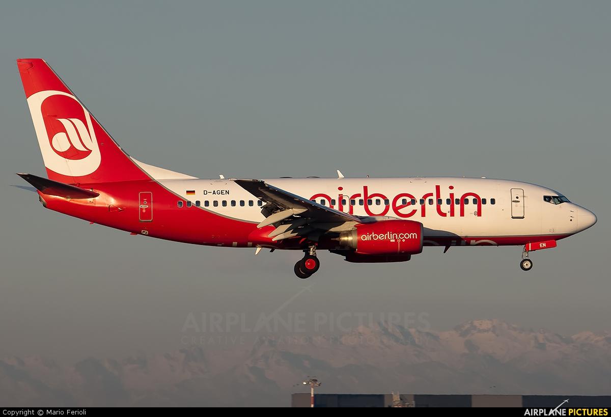 Air Berlin D-AGEN aircraft at Milan - Malpensa