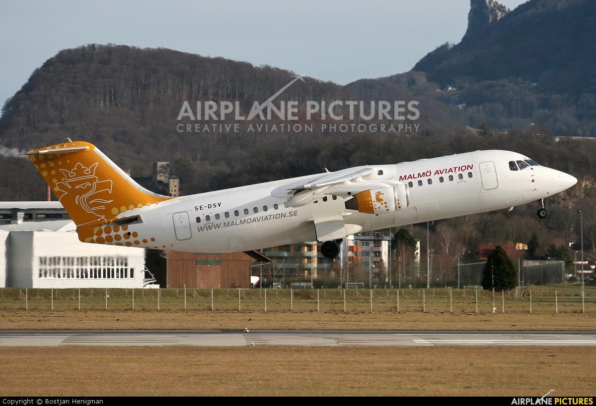 Malmo Aviation SE-DSV aircraft at Salzburg