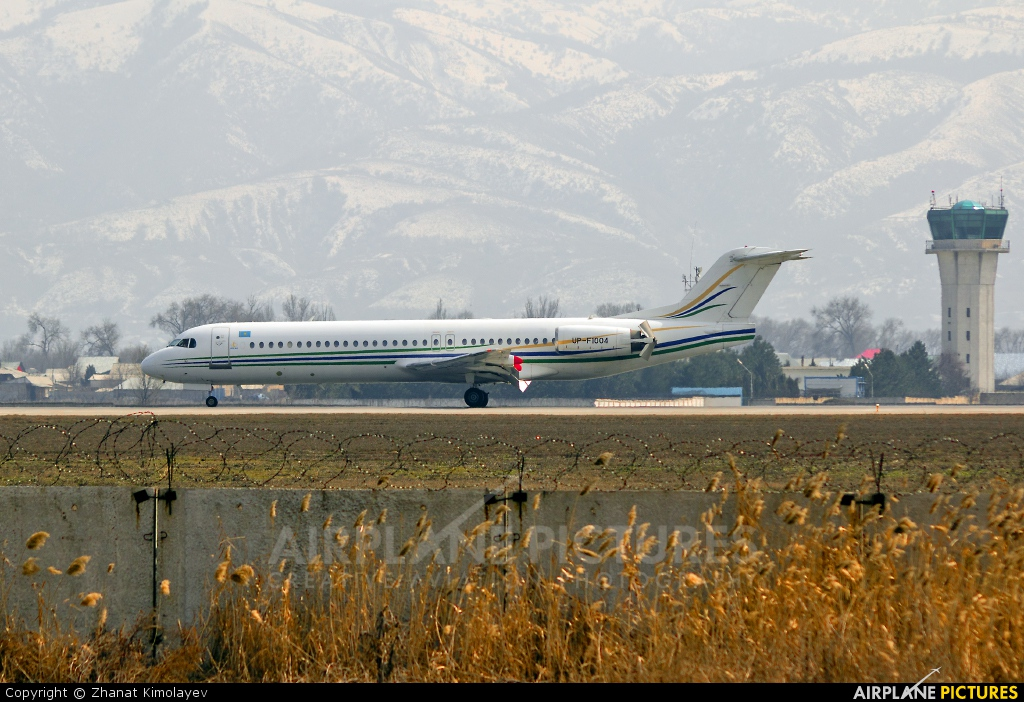 Bek Air UP-F1004 aircraft at Almaty Intl