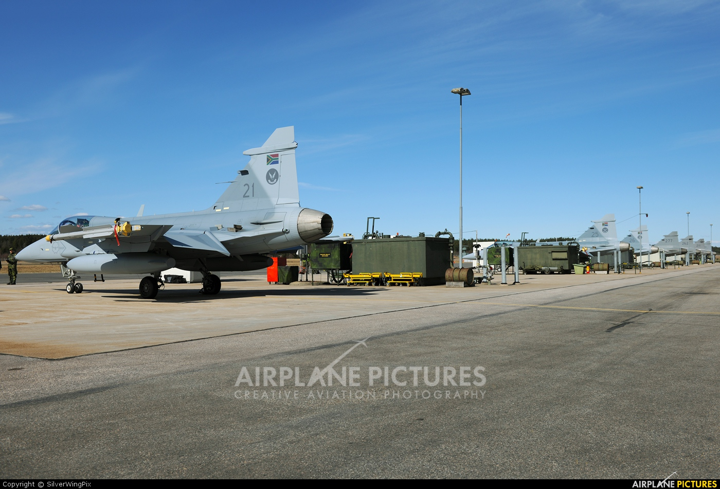 South Africa - Air Force 21 aircraft at Ronneby
