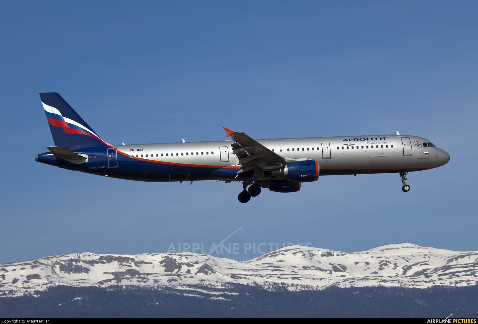 Aeroflot VQ-BEF aircraft at Geneva Intl