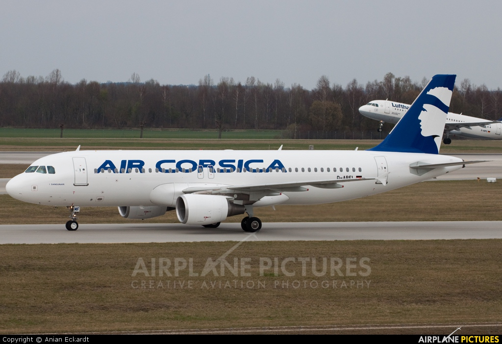 Air Corsica D-ABFL aircraft at Munich