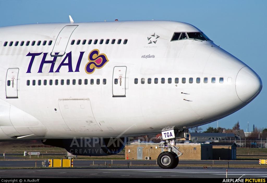 Thai Airways HS-TGA aircraft at Copenhagen Kastrup
