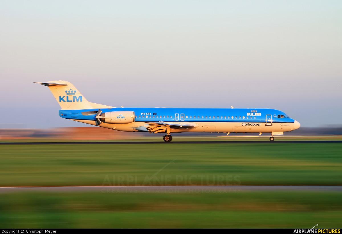 KLM Cityhopper PH-OFL aircraft at Amsterdam - Schiphol