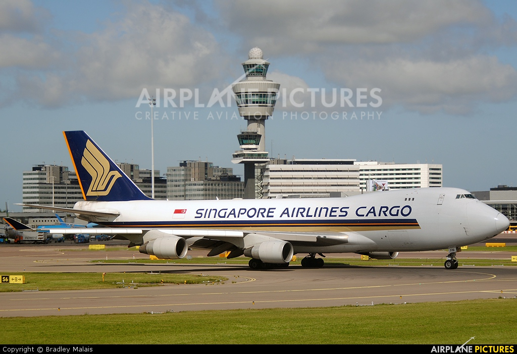 Singapore Airlines Cargo 9V-SFM aircraft at Amsterdam - Schiphol