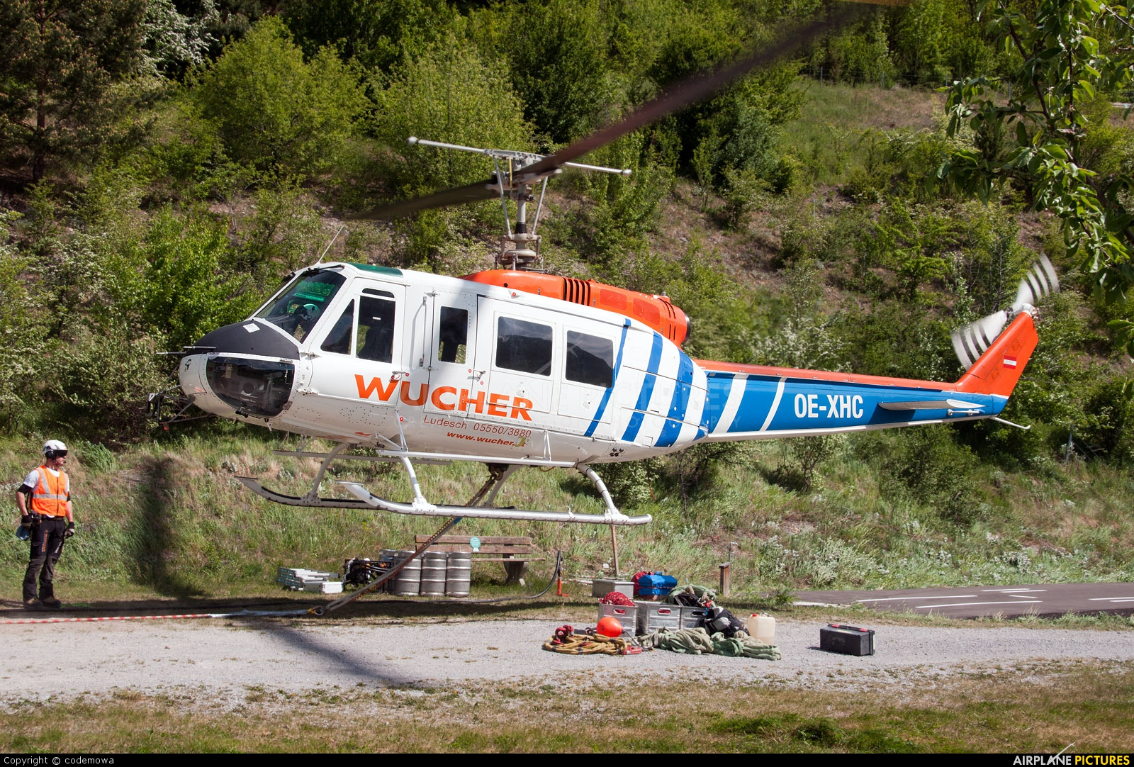 Wucher Helicopter OE-XHC aircraft at Off Airport - Austria