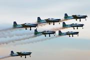 """- - Brazil - Air Force """"Esquadrilha da Fumaça"""" Embraer EMB-312 Tucano T-27 aircraft"""