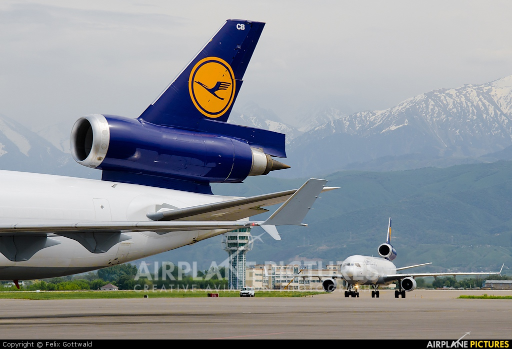 Lufthansa Cargo D-ALCB aircraft at Almaty Intl