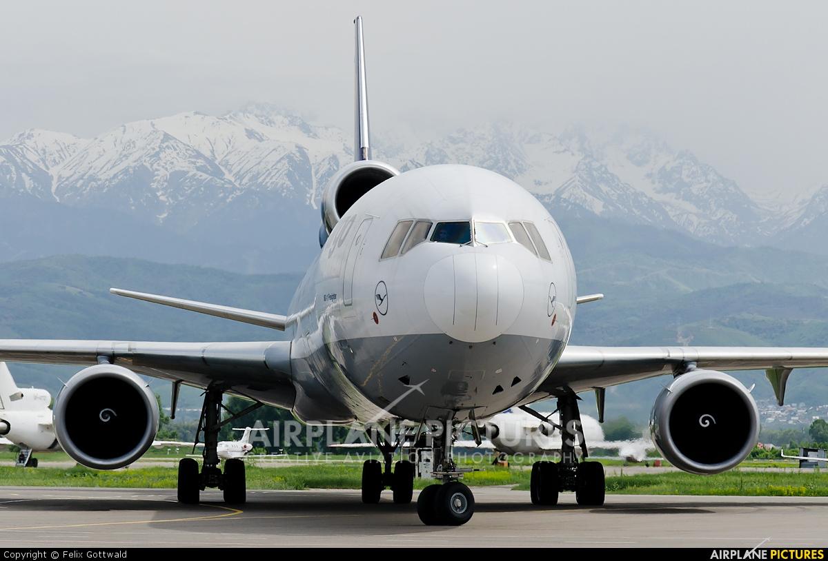 Lufthansa Cargo D-ALCL aircraft at Almaty Intl