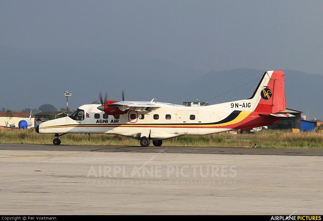 Agni Air 9N-AIG aircraft at Kathmandu - Tribhuban Intl
