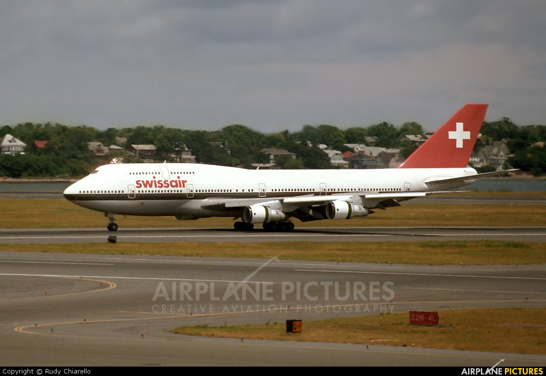 Swissair HB-IGG aircraft at Boston - General Edward Lawrence Logan Intl