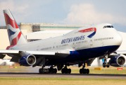 G-BNLW - British Airways Boeing 747-400 aircraft