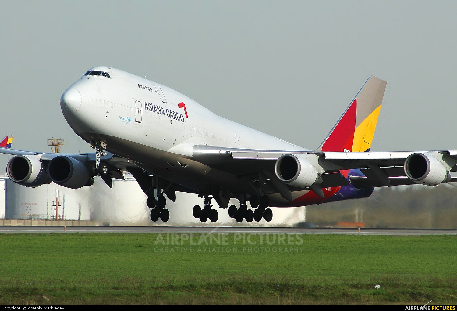 HL7413 - Asiana Cargo Boeing 747-400BCF, SF, BDSF at ...