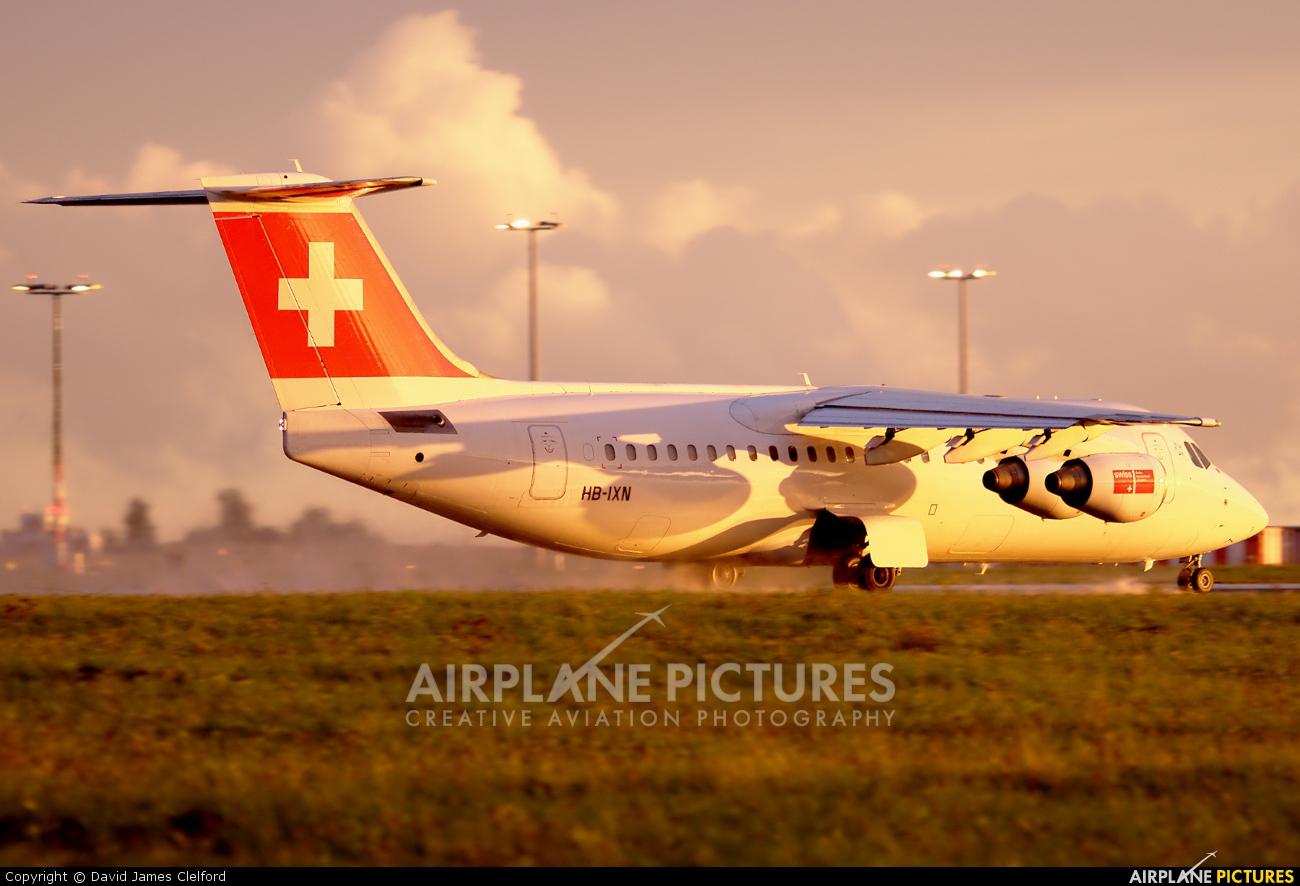 Swiss HB-IXN aircraft at Prague - Václav Havel