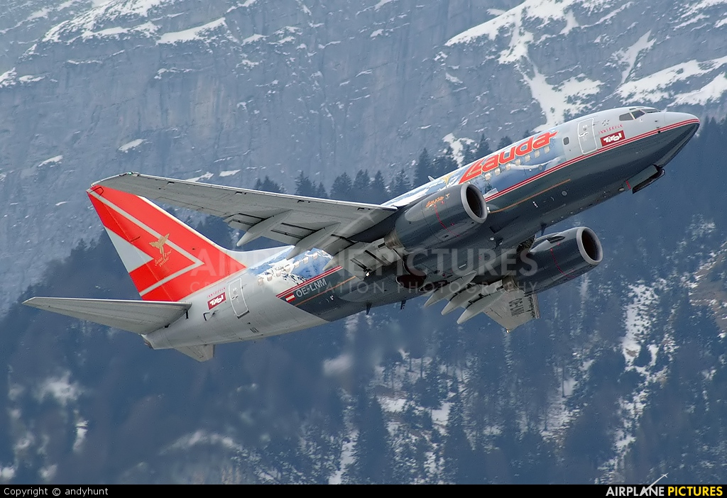 oe lnm lauda air boeing 737 600 at innsbruck photo id. Black Bedroom Furniture Sets. Home Design Ideas