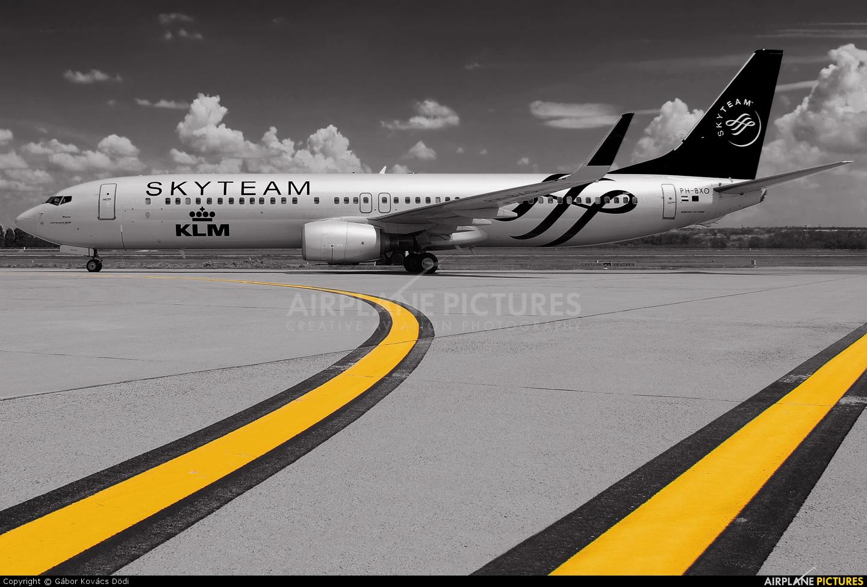 KLM PH-BXO aircraft at Budapest Ferenc Liszt International Airport
