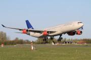 OY-KBA - SAS - Scandinavian Airlines Airbus A340-300 aircraft
