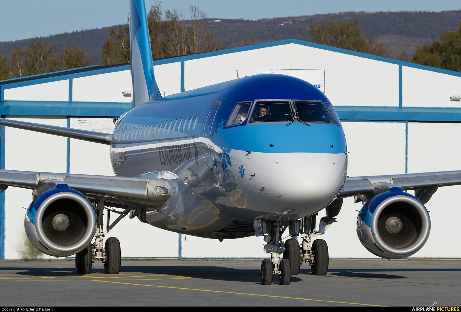 Estonian Air ES-AEC aircraft at Trondheim - Vaernes