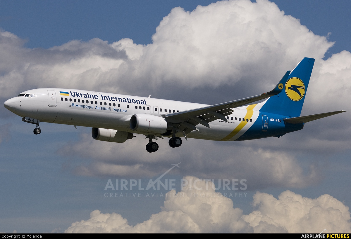 Ukraine International Airlines UR-PSB aircraft at Barcelona - El Prat