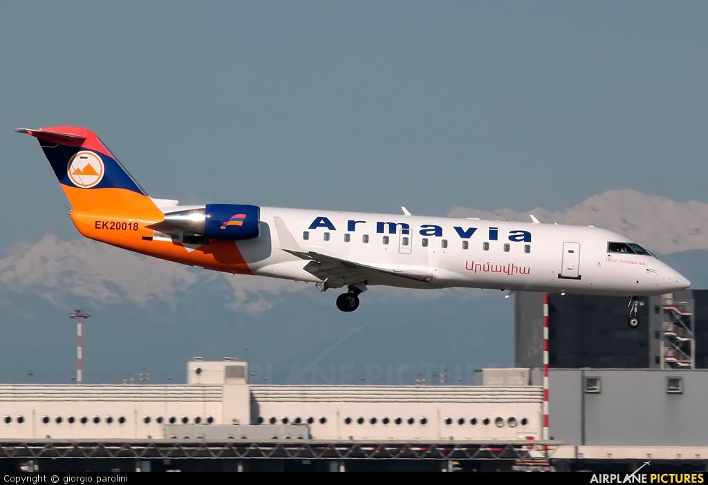 Armavia EK20018 aircraft at Milan - Malpensa