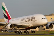 A6-EDF - Emirates Airlines Airbus A380 aircraft