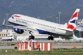 G-LCYM - British Airways - City Flyer Embraer ERJ-190 (190-100)