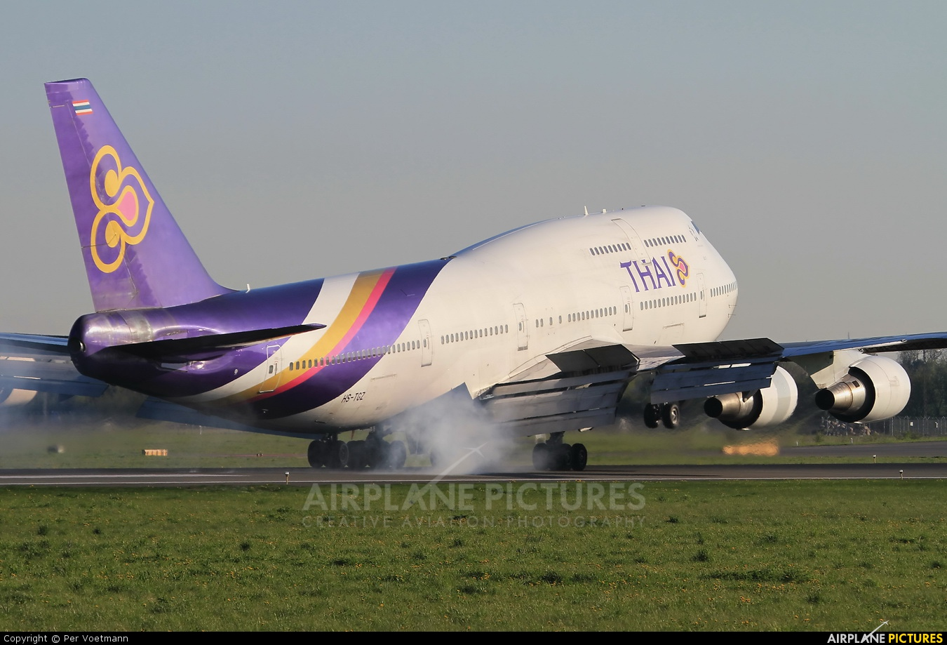 Thai Airways HS-TGZ aircraft at Copenhagen Kastrup