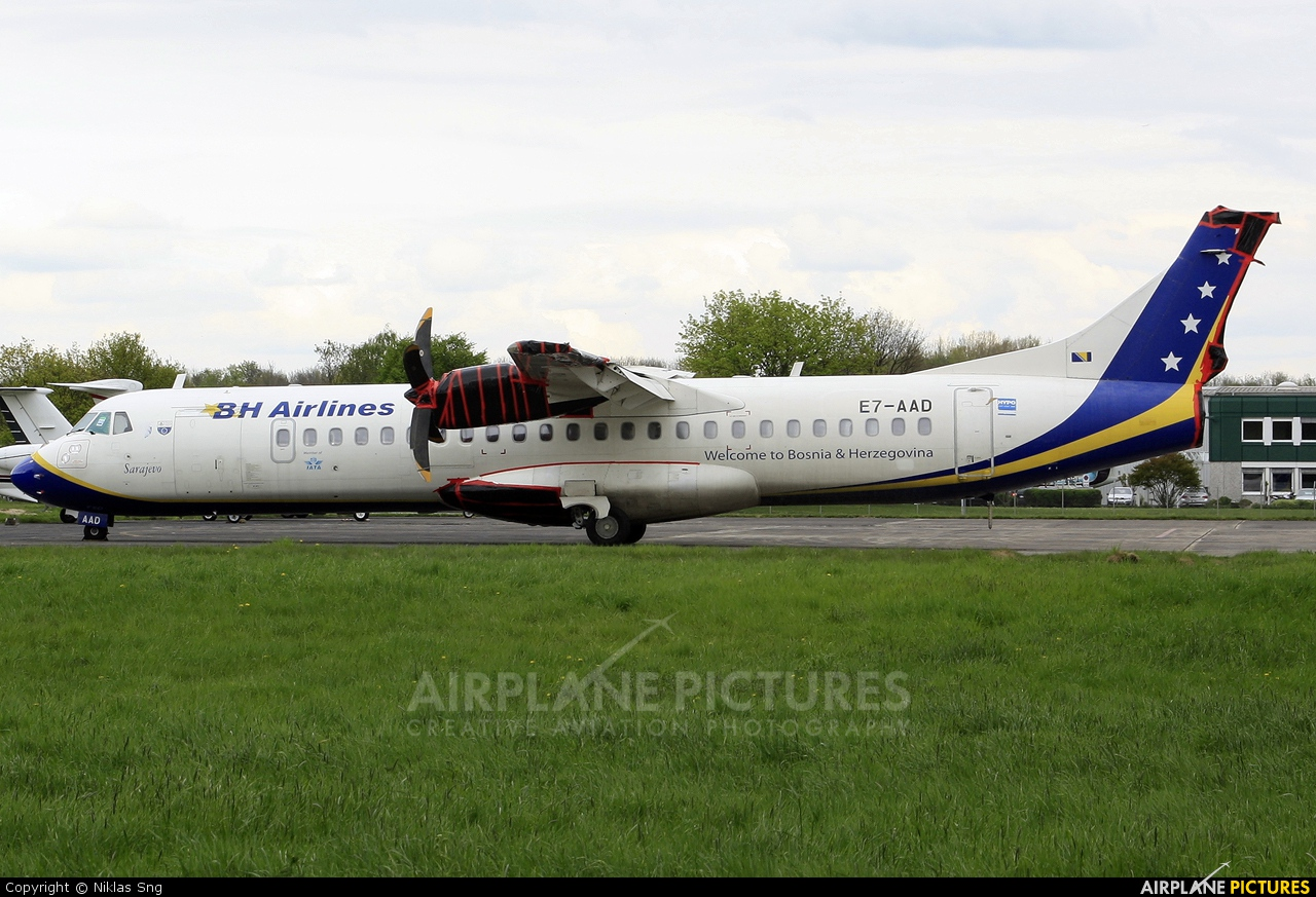Air Bosnia - BH Airlines E7-AAD aircraft at Mönchengladbach