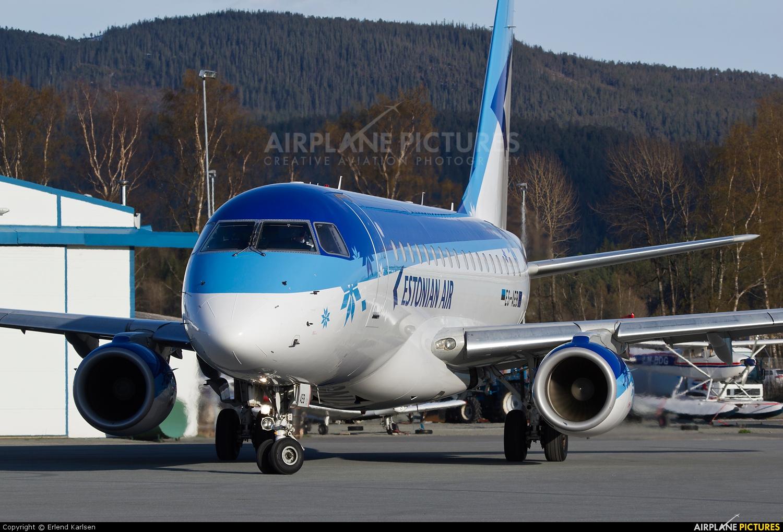 Estonian Air ES-AEB aircraft at Trondheim - Vaernes