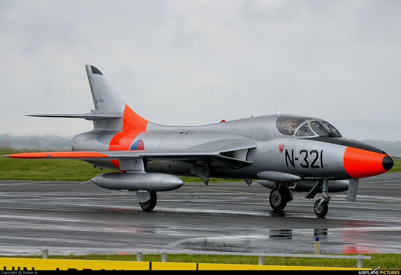 Dutch Hawker Hunter Foundation G Bwgl Aircraft At Aalborg