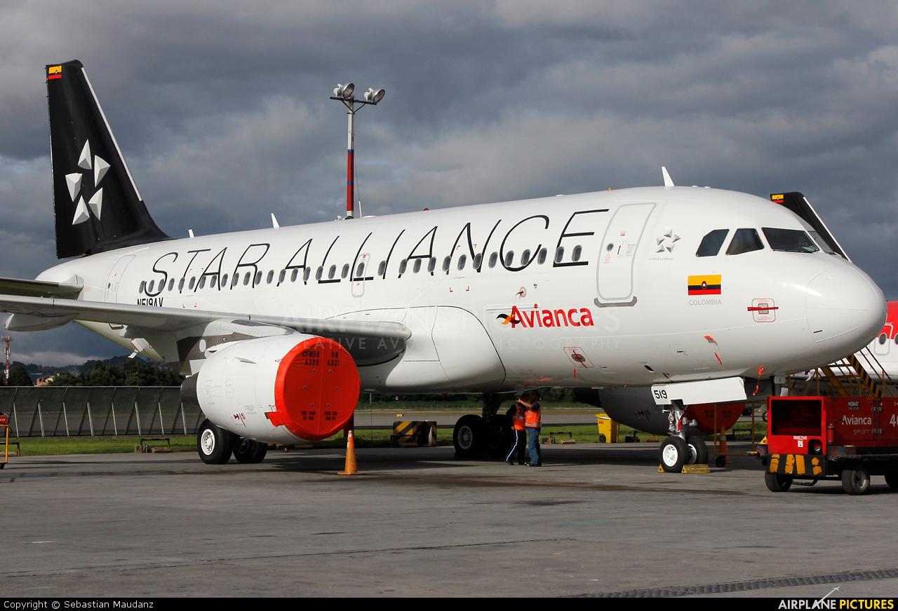 Avianca N519AV aircraft at Bogotá - Eldorado Intl
