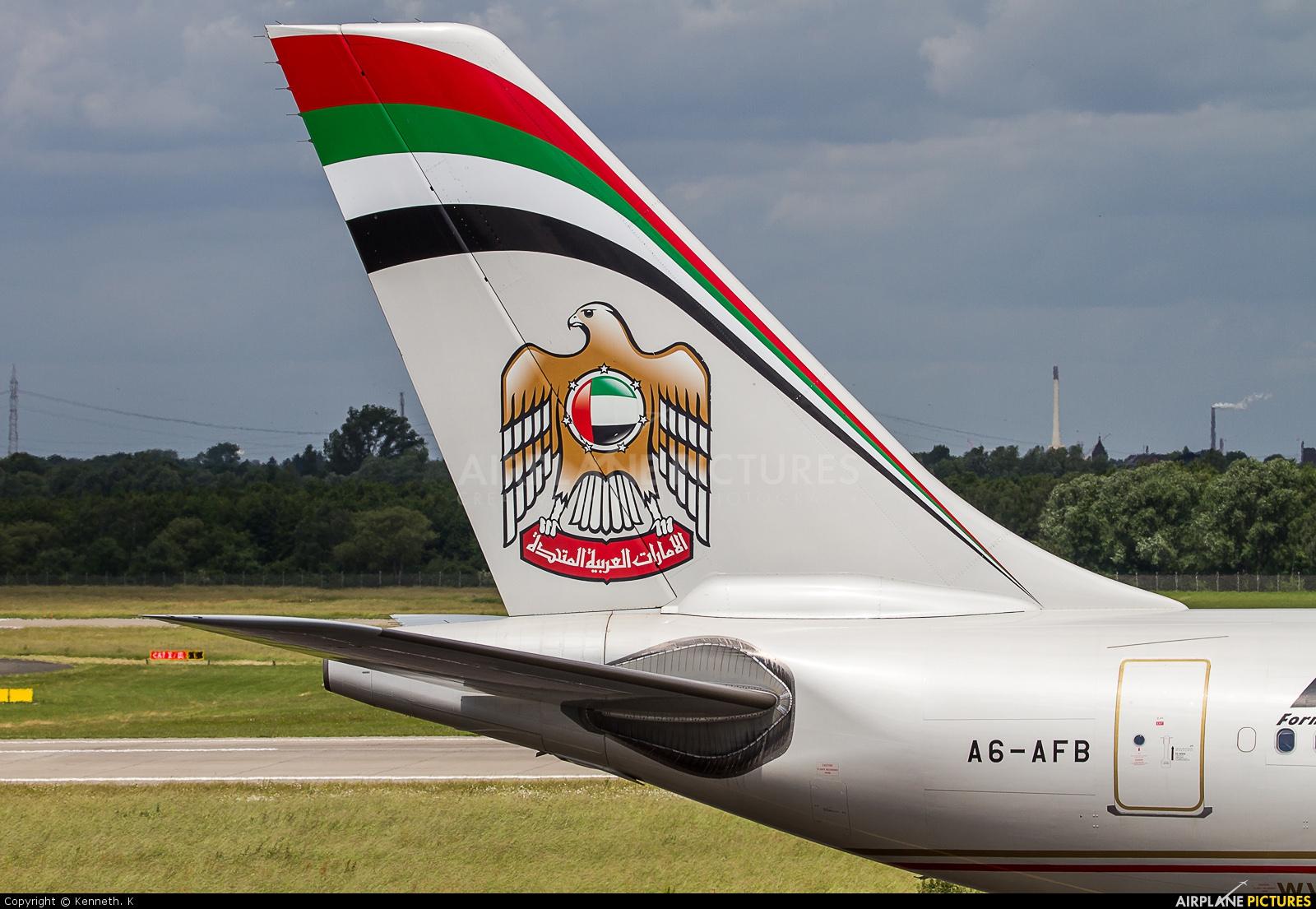 Etihad Airways A6-AFB aircraft at Düsseldorf
