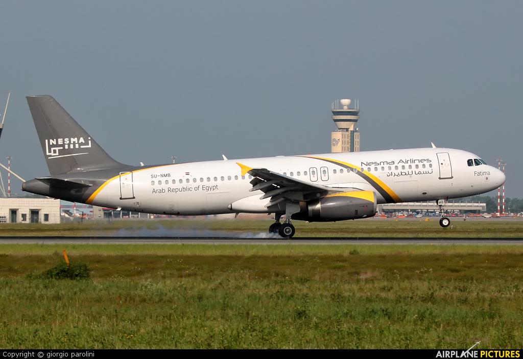 Nesma Airlines SU-NMB aircraft at Milan - Malpensa