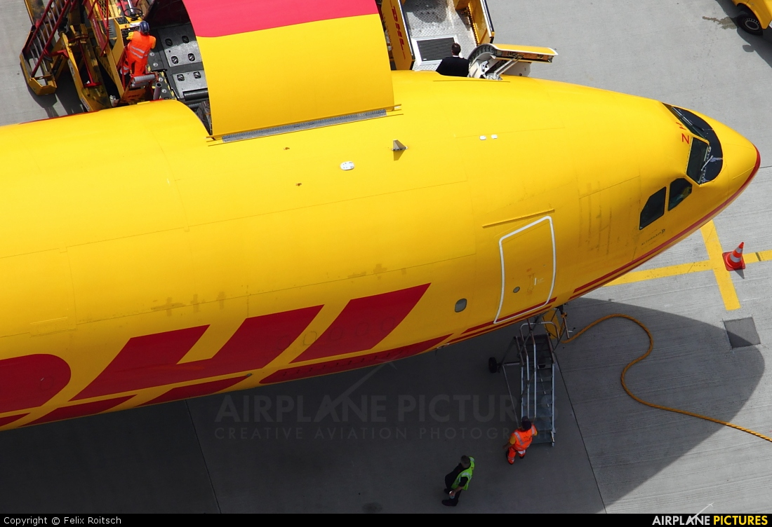 DHL Cargo EI-OZH aircraft at Leipzig - Halle