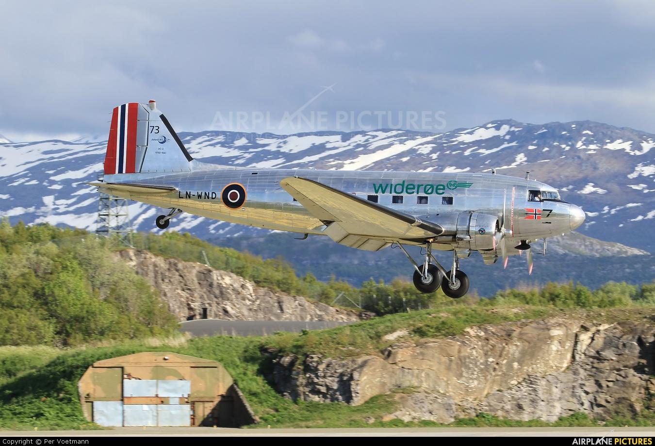Dakota Norway LN-WND aircraft at Bodø