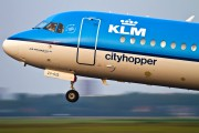 PH-KZV - KLM Cityhopper Fokker 70 aircraft