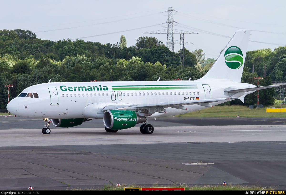 Germania D-ASTC aircraft at Düsseldorf