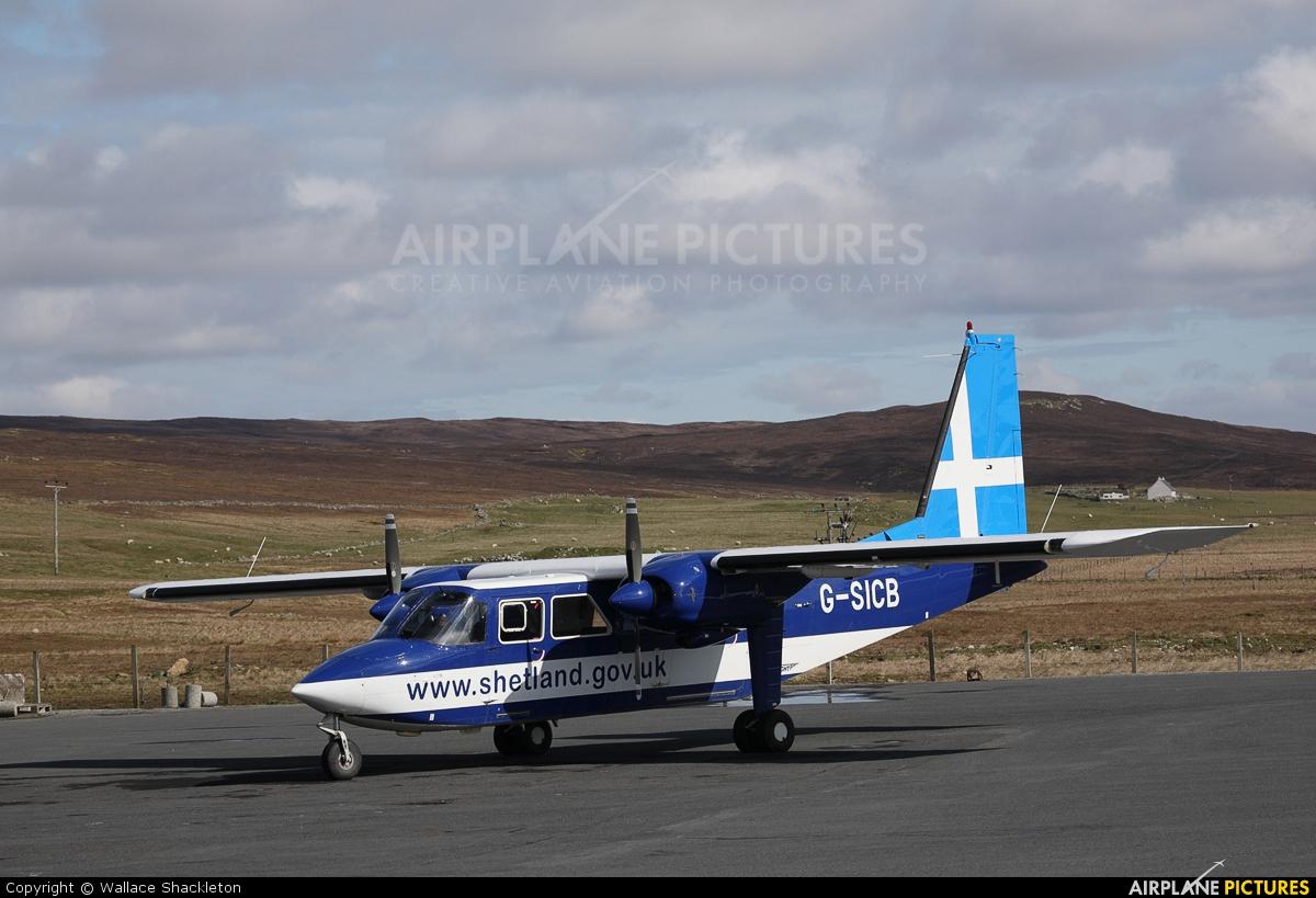 Directflight G-SICB aircraft at Tingwall